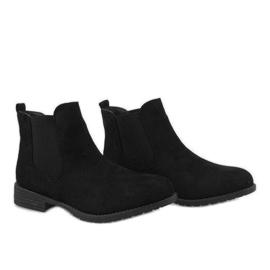 Kayla Shoes Czarne ocieplane botki DD1863-1 3