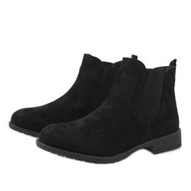 Kayla Shoes Czarne ocieplane botki DD1863-1 4