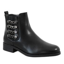 Kayla Shoes Czarne ocieplane botki 8961 1