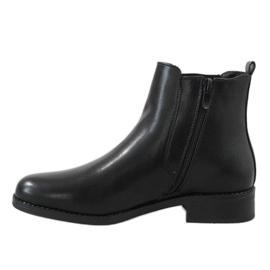Kayla Shoes Czarne ocieplane botki 8961 2