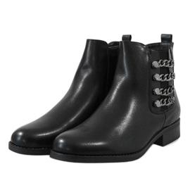 Kayla Shoes Czarne ocieplane botki 8961 3