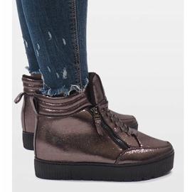 Brązowe sneakersy ocieplane BB-1652 2