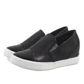 Czarne sneakersy na koturnie DD436-1 3
