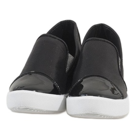 Czarne sneakersy na koturnie DD436-1 4