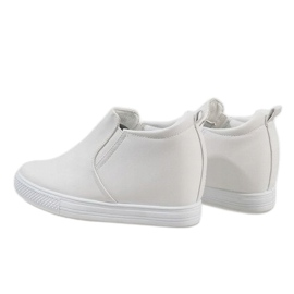 Białe sneakersy na koturnie DD384-2 4