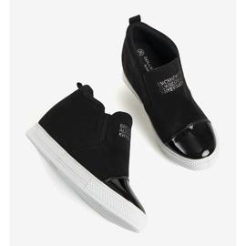 Czarne sneakersy na koturnie DD394-4 3