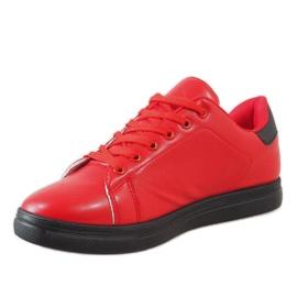 Czerwone męskie trampki D20533 2