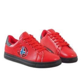 Czerwone męskie trampki D20533 4