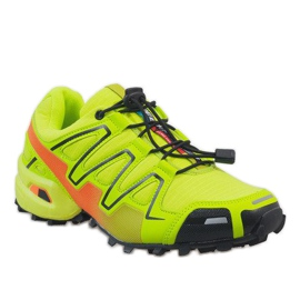 Żółte sportowe obuwie trekkingowe A1503-33 1