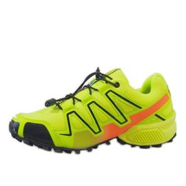 Żółte sportowe obuwie trekkingowe A1503-33 2