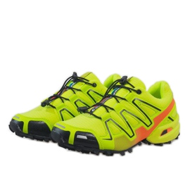 Żółte sportowe obuwie trekkingowe A1503-33 3