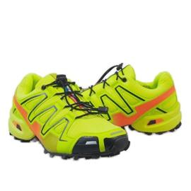Żółte sportowe obuwie trekkingowe A1503-33 4