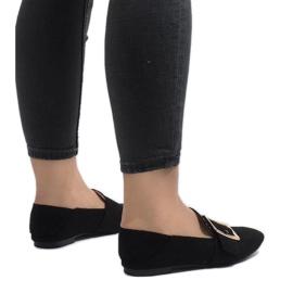 Czarne mokasyny balerinki 6979-P 3
