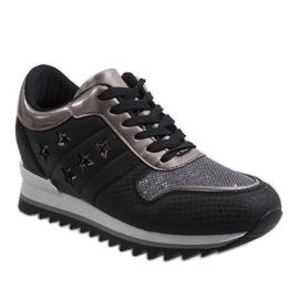 Czarne sneakersy na koturnie G-127 1