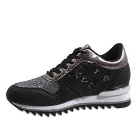 Czarne sneakersy na koturnie G-127 2