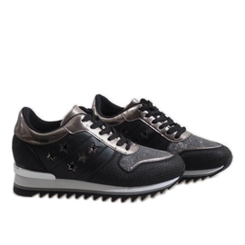 Czarne sneakersy na koturnie G-127 4