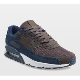 Granatowe męskie obuwie sportowe 8104 1