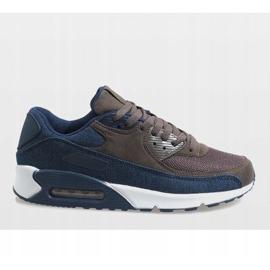 Granatowe męskie obuwie sportowe 8104 2