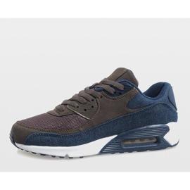 Granatowe męskie obuwie sportowe 8104 3
