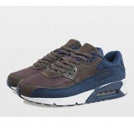 Granatowe męskie obuwie sportowe 8104 4