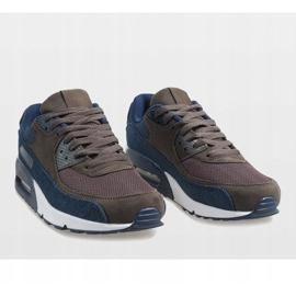 Granatowe męskie obuwie sportowe 8104 5