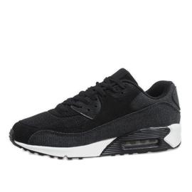Czarne męskie obuwie sportowe 8104 2
