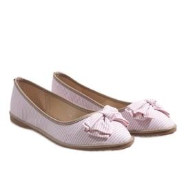 Różowe balerinki z kokardką SK40 2