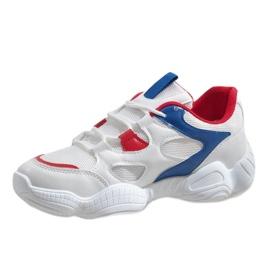 Czerwone modne obuwie sportowe 2018-15 białe 2