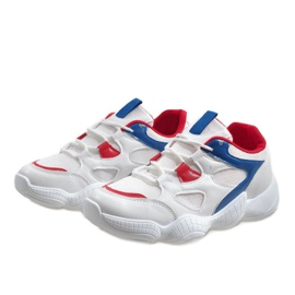 Czerwone modne obuwie sportowe 2018-15 białe 3