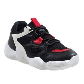 Białe modne obuwie sportowe 2018-15 czarne 1