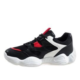 Białe modne obuwie sportowe 2018-15 czarne 2