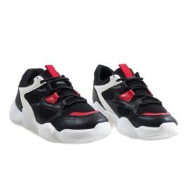 Białe modne obuwie sportowe 2018-15 czarne 4