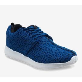 Granatowe obuwie sportowe LD19-4 1