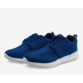 Granatowe obuwie sportowe LD19-4 2