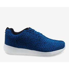 Granatowe obuwie sportowe LD19-4 3