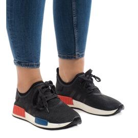 Czarne obuwie sportowe MD01B-5 1
