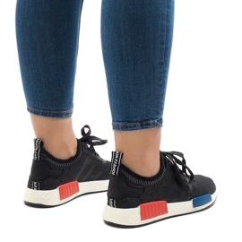 Czarne obuwie sportowe MD01B-5 3