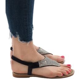 Czarne sandały japonki zdobione JN1359-2 3