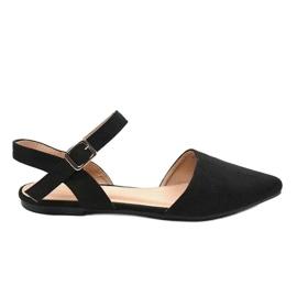 Czarne sandały balerinki 235-4 3