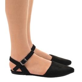 Czarne sandały balerinki 235-4 1