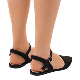 Czarne sandały balerinki 235-4 2