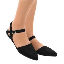 Czarne sandały balerinki 235-4 4