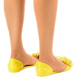 Żółte sandałki meliski z kwiatkami AE20 3