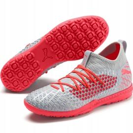 Buty piłkarskie Puma Future 4.3 Netfit Tt M 105685 01 szare wielokolorowe 3