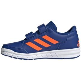 Buty adidas Altasport Cf K granatowo pomarańczowe Jr G27086 niebieskie 1