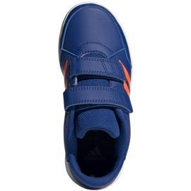 Buty adidas Altasport Cf K granatowo pomarańczowe Jr G27086 niebieskie 2