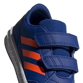 Buty adidas Altasport Cf K granatowo pomarańczowe Jr G27086 niebieskie 3
