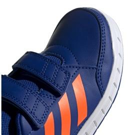 Buty adidas Altasport Cf K granatowo pomarańczowe Jr G27086 niebieskie 4