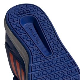 Buty adidas Altasport Cf K granatowo pomarańczowe Jr G27086 niebieskie 5