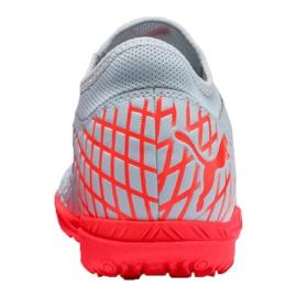 Buty piłkarskie Puma Future 4.4 Tt M 105690-01 czerwony, szary/srebrny szare 1